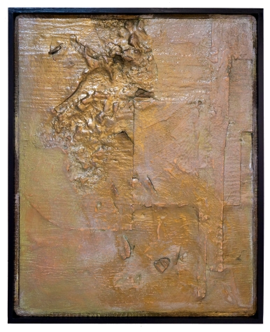 Peter Thomas, gold, pigment, fortom MG and enamel on felt 120 x 100cm